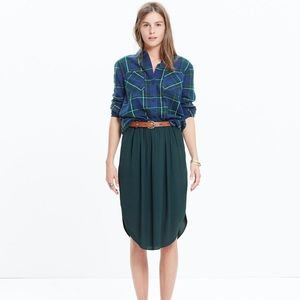 Madewell Island Midi Skirt Dark Spruce Size M